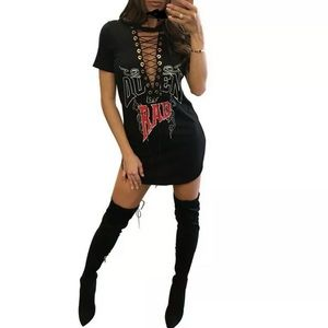 SO SEXY 💕QUEEN OF RAD/BAD MINI DRESS w/LACE-UP
